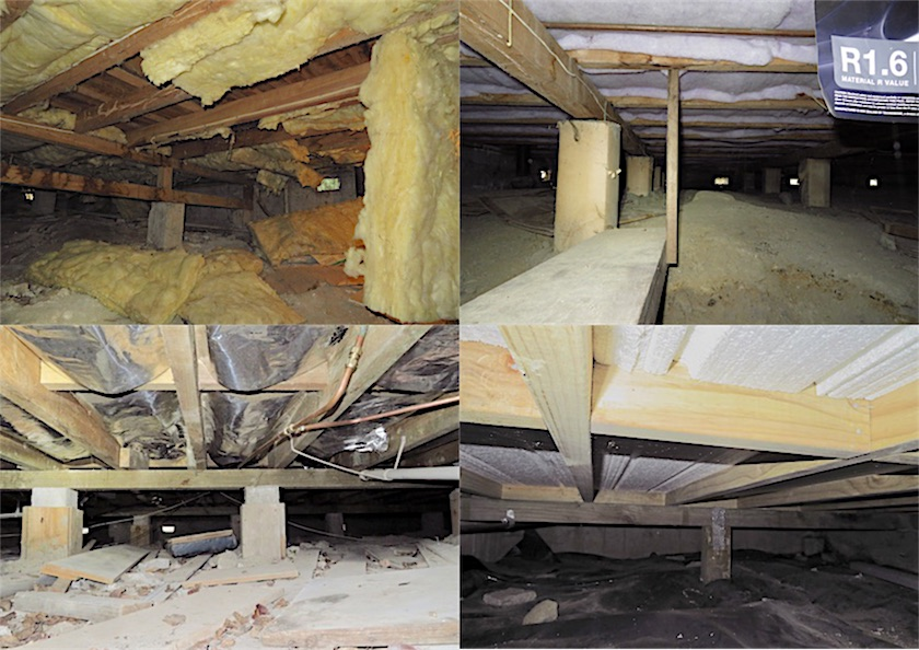 four types of sub-floor insulation | Nelson Building Reports